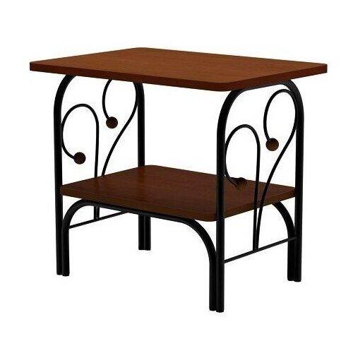 Столик журнальный Форвард-мебель МК-7, ДхШ: 50 х 36 см, орех/черный