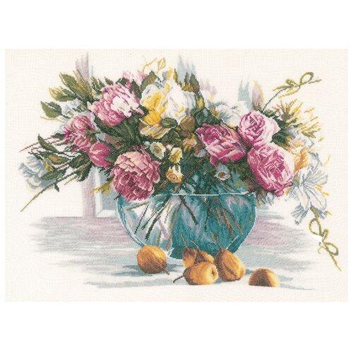 Купить Lanarte Набор для вышивания Цветы 53 x 38 см (0162299-PN), Наборы для вышивания