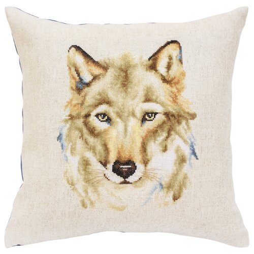 Luca-S Набор для вышивания подушки Волк, 40 х 40 см, PB164 набор для вышивания подушки полным крестом orchidea 9350 разноцветный 40 х 40 см