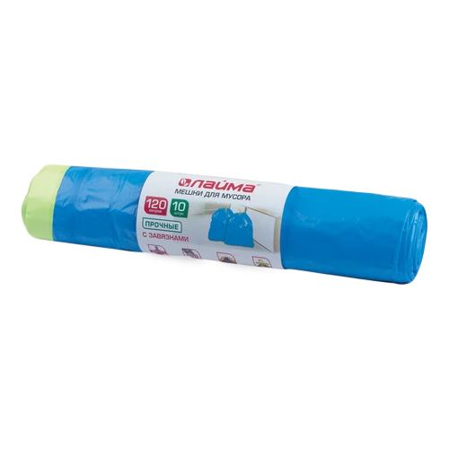Мешки для мусора Лайма 601399 120 л (10 шт.) синий
