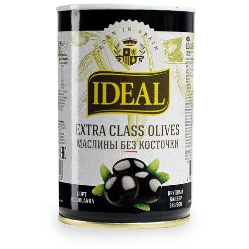 Ideal Маслины черные без косточки, жестяная банка 300 г ideal оливки зеленые без косточки жестяная банка 300 г