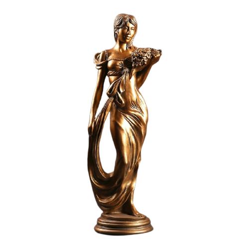 Статуэтка Хорошие сувениры Девушка с букетом 64 см бронза
