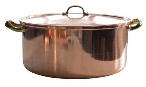 Кастрюля Copper Crafts медная с крышкой 28 см 8,4 л