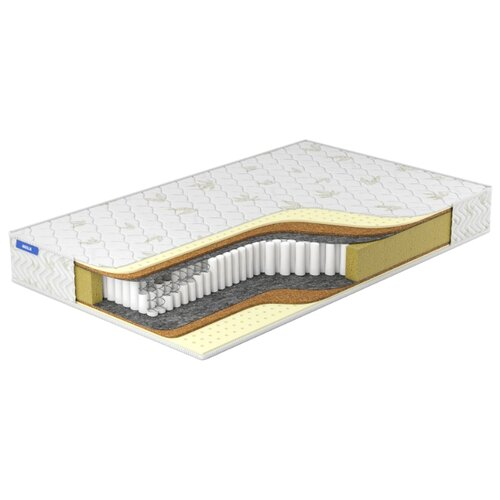 Матрас Miella Hard-Soft Multipoket 140x200, пружинный, белый