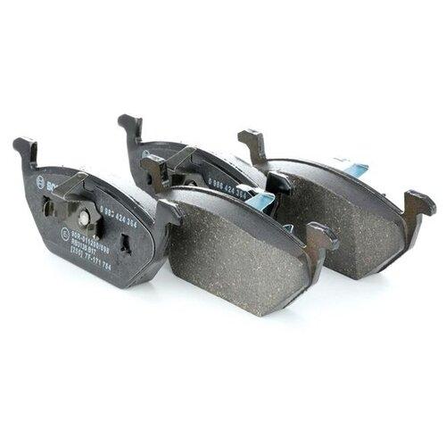 Дисковые тормозные колодки передние Bosch 0986424364 для Audi, SEAT, Skoda, Volkswagen (4 шт.) дисковые тормозные колодки передние bosch 0986494704 для skoda audi seat volkswagen 4 шт