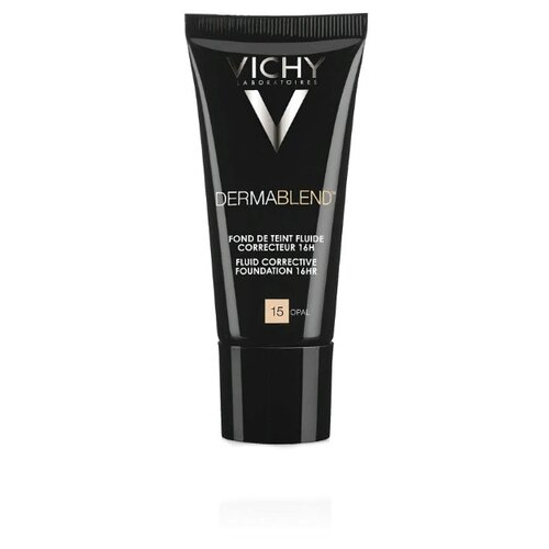 Vichy Тональный флюид Dermablend, 30 мл, оттенок: 15 Opal консилер dermablend cosmetique corrective от vichy