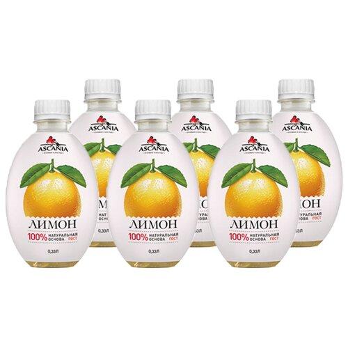 Газированный напиток Ascania Лимон, 0.33 л, 6 шт.