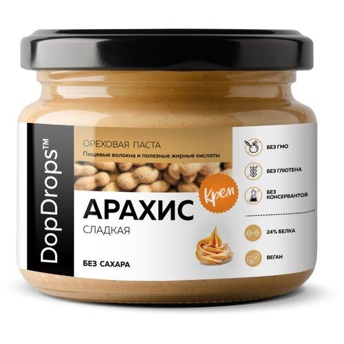 DopDrops Паста ореховая Арахис Крем сладкая стекло 250 г
