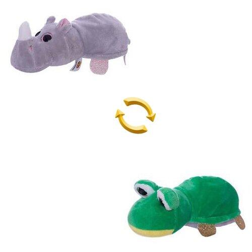 Купить Мягкая игрушка ABtoys Вывернушка Лягушка-Носорог 16 см, Мягкие игрушки