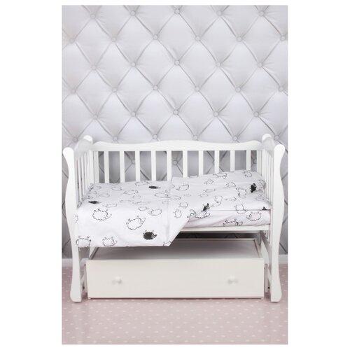 Фото - Amarobaby комплект в кроватку Baby Boom Овечки (3 предмета) белый amarobaby комплект в кроватку baby boom короны 3 предмета серый
