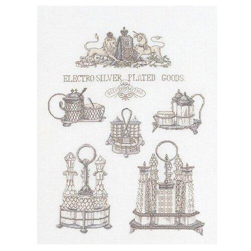Купить Набор для вышивания Серебряные изделия, канва лён 36 ct, Thea Gouverneur, Наборы для вышивания