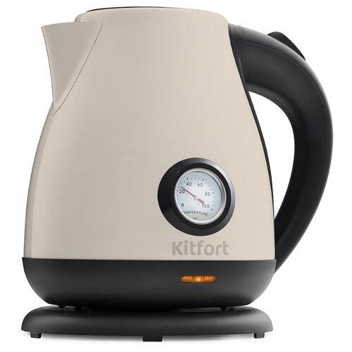 Чайник Kitfort KT-642-3, белый чайник kitfort kt 642 1 розовый