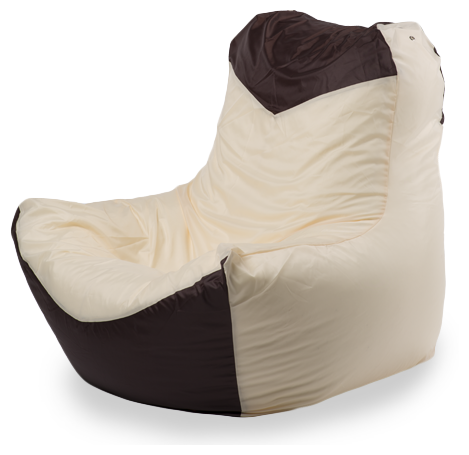 Пуффбери Внешний чехол Кресло-мешок классическое 100x100x110, Оксфорд Бежевый и коричневый