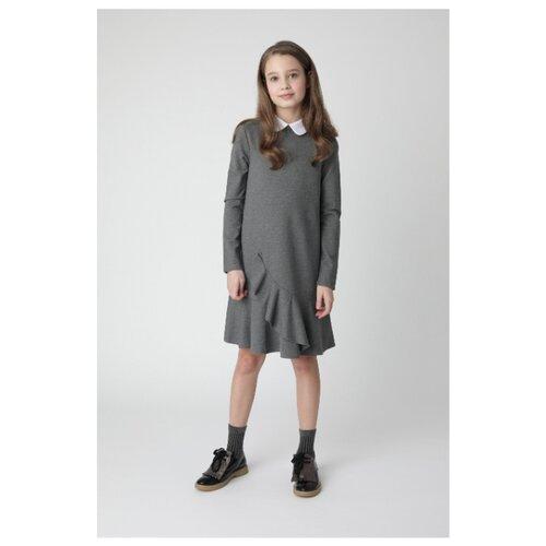 Купить Платье Gulliver размер 140, серый, Платья и сарафаны
