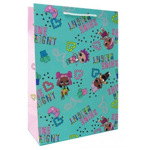 Пакет подарочный ND Play L.O.L. 280541 22х31х10 см мятный/розовый