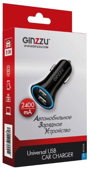 Автомобильная зарядка Ginzzu GA-4012UB