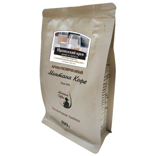 цена на Кофе в зернах Монтана Ирландский крем, ароматизированный, арабика, 100 г