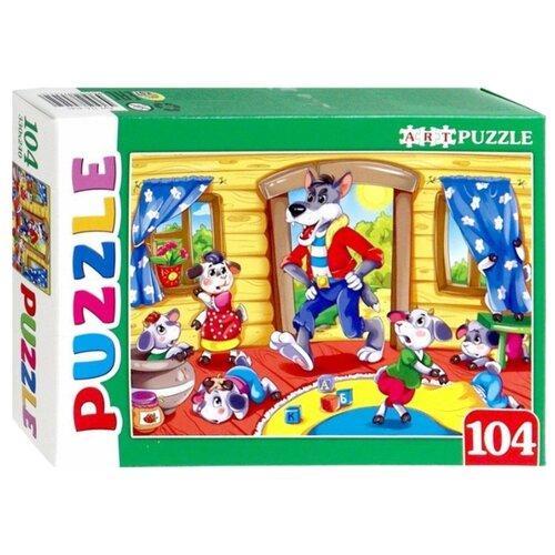 цена на Пазл Рыжий кот Artpuzzle Волк и семеро козлят (ПА-4545), 104 дет.