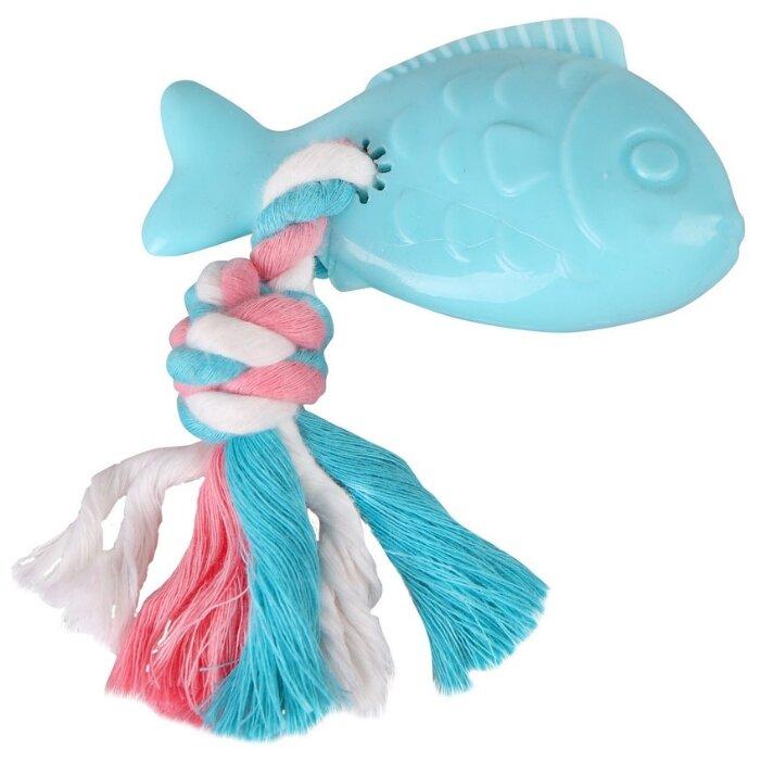 Игрушка для собак DEZZIE Рыба с веревкой (5638201)
