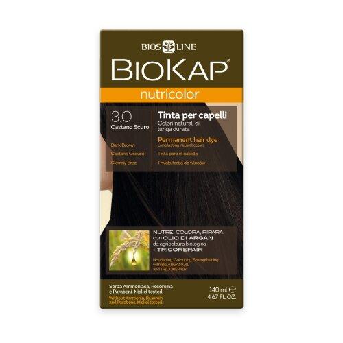 BioKap Nutricolor крем-краска для волос, 3.0 темно-коричневый