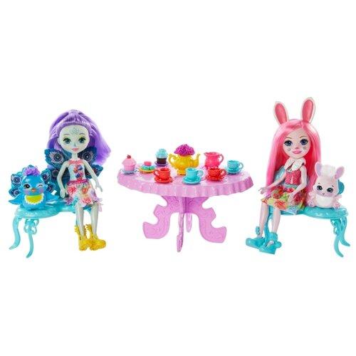 Купить Игровой набор Enchantimals Чаепитие Пэттер Павлины и Бри Кроли, GLD41, Куклы и пупсы
