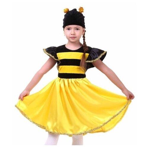 Купить Костюм Страна Карнавалия Пчёлка (2099615-2099617), черный/желтый, размер 98-104, Карнавальные костюмы
