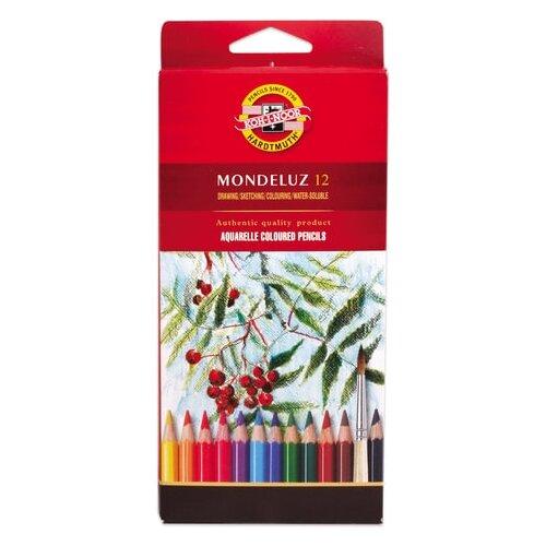 Купить KOH-I-NOOR Акварельные карандаши Mondeluz, 12 цветов (3716012001KS), Цветные карандаши