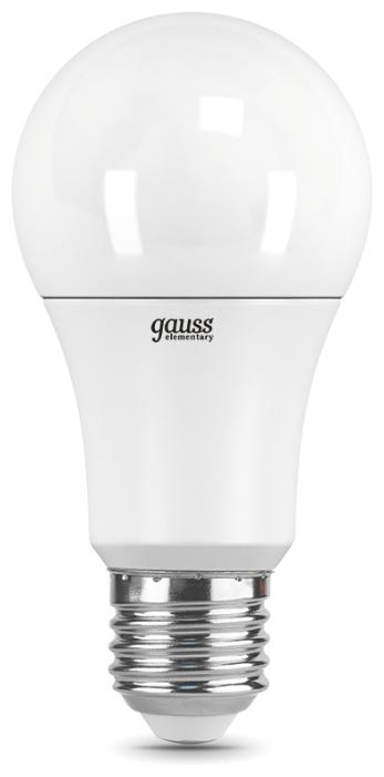 Лампа светодиодная gauss 23225, E27, A60, 15Вт — купить по выгодной цене на Яндекс.Маркете