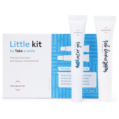Купить ON WHITE Комплекс для отбеливания зубов Little kit / малый комплект расходных материалов для вашей Led капы / отбеливание зубов на 6 тонов за 5 дней / набор для отбеливания зубов: отбеливающий гель + активатор
