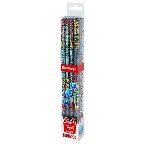 Купить Berlingo Набор чернографитных карандашей 3 дизайна StreetArt 12 шт (BP01302_12), Карандаши