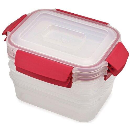 Joseph Joseph Набор контейнеров для хранения продуктов Nest Lock 81083 красный набор контейнеров для продуктов patricia im99 5290