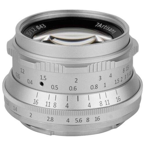 Фото - Объектив 7Artisans 35mm F1.2 Sony (E Mount) Серебро объектив 7artisans 35mm f0 95 canon eos m mount