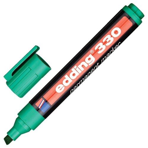Фото - Маркер перманентный EDDING E-330/4 зеленый, 1-5мм, скошенный наконечник 2 шт. маркер перманентный edding зеленый 3 4 мм круглый наконечник