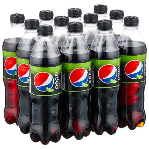 Газированный напиток Pepsi Lime, 0.5 л, 12 шт.
