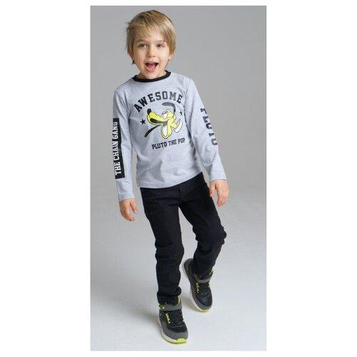 Фото - Лонгслив playToday, размер 98, светло-серый лонгслив playtoday размер 98 серый