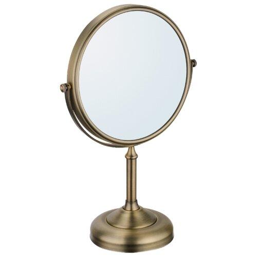 Зеркало косметическое настольное Fixsen Antik FX-61121A античная латунь