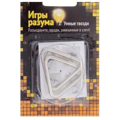 Головоломка Interpuzzles Игры разума Умные гвозди №15, уровень сложности 2 (113768) серый