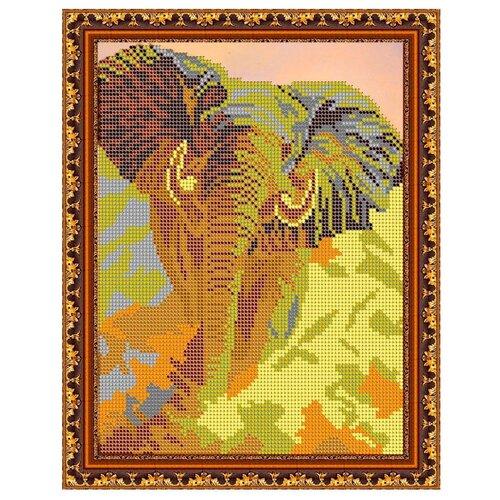 Светлица Набор для вышивания бисером Слон 19 х 24 см, бисер Чехия (316)