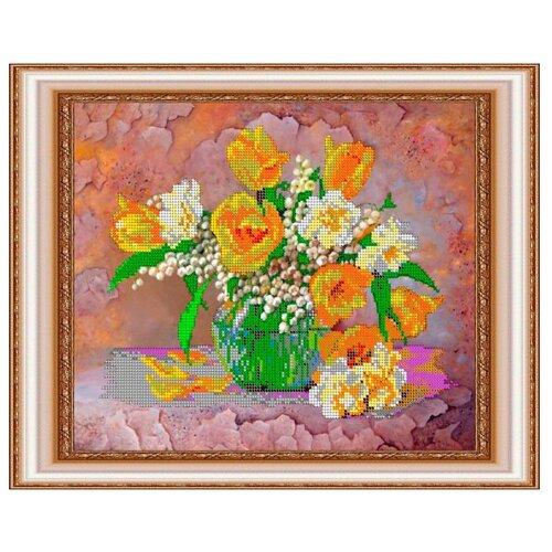 Светлица Набор для вышивания бисером Весенние цветы 30 х 24 см, бисер Чехия (278)