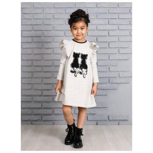 Купить Платье Khmeleva размер 110, серый, Платья и сарафаны