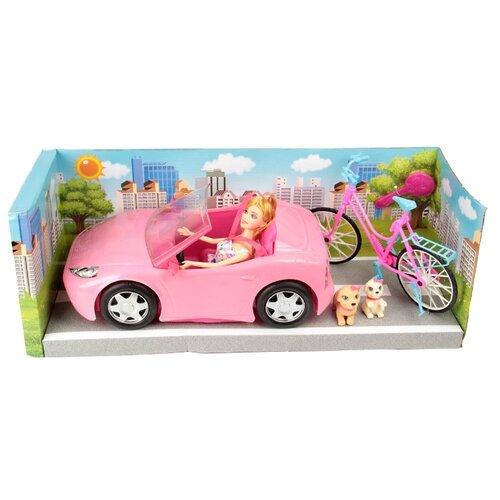 Игровой набор Veld Co Кукла с машиной, 62945 кукла veld co кулинар в белом 29 см 47874 бел
