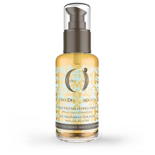 Купить Barex Olioseta Oro del Marocco Масло блонд-уход с маслом арганы и маслом семян льна для волос, 100 мл