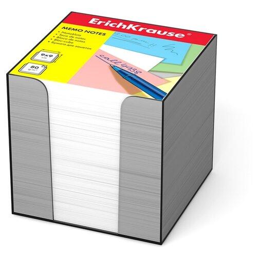 Купить ErichKrause блок-кубик в подставке 90x90x90 мм (999721188-4458/999721187-5142) белый, Бумага для заметок