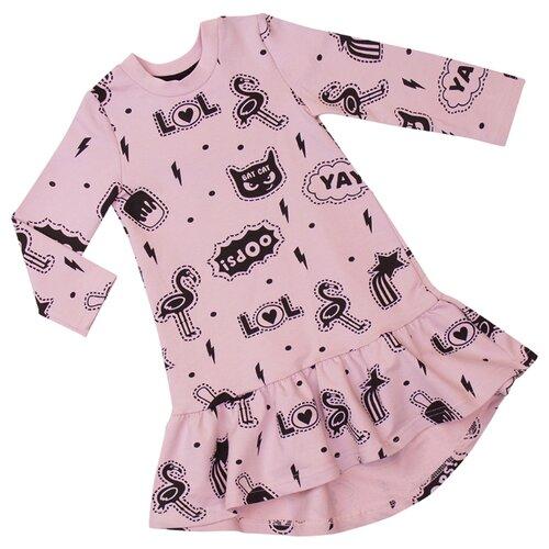 Платье ALENA размер 86-92, розовый фламинго
