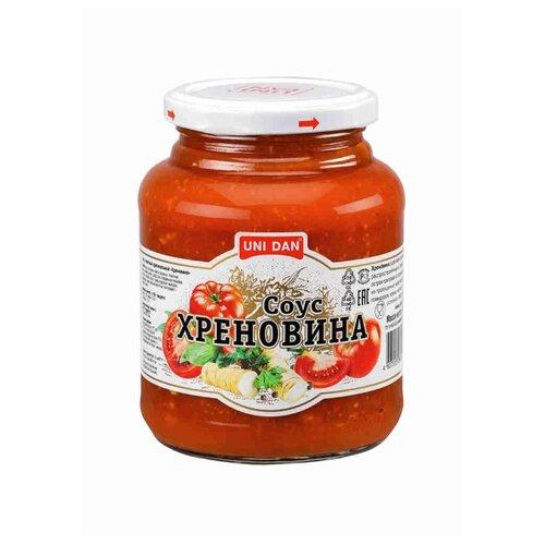 Соус UNI DAN томатный оригинальный Хреновина острый, 500 г unidan соус томатный с хреном 500 г