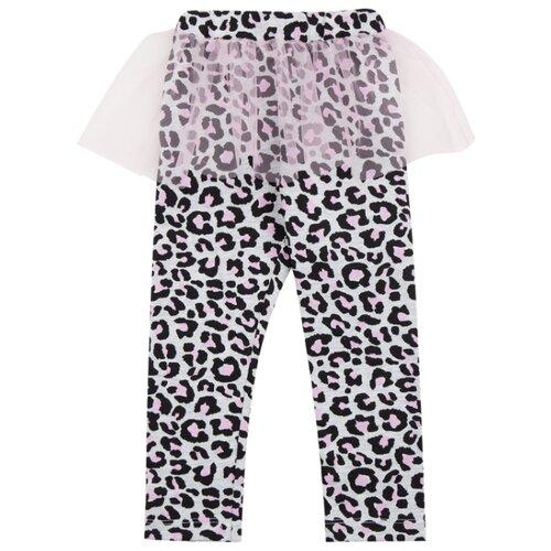 Легинсы Leader Kids ЛКЛ20215322 размер 86, серый/розовый/черный легинсы leader kids морячка размер 86 синий белый