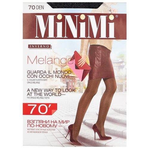 Колготки MiNiMi Melange 70 den, размер 3-M, grigio melange (серый) фото