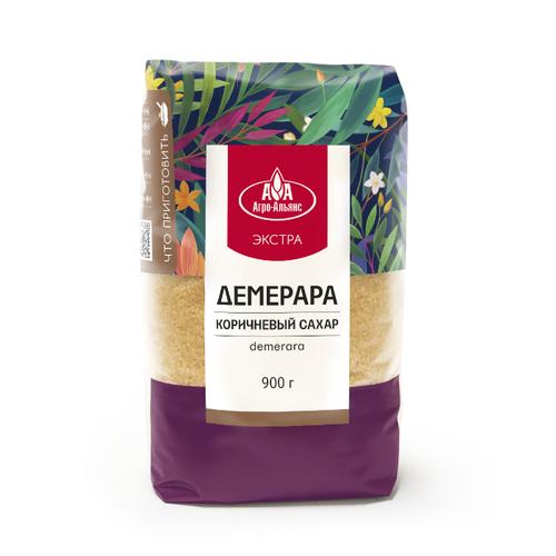 Сахар Агро-Альянс Демерара коричневый сахар-песок 0.9 кг