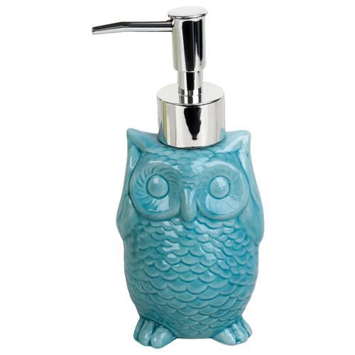 Дозатор для жидкого мыла Доляна Совушка, голубой дозатор для жидкого мыла proffi la maison de beaute ph9283 серо голубой