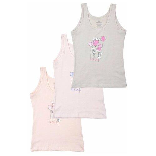 Купить Майка BAYKAR 3 шт., размер 170/176, белый/розовый/персиковый, Белье и купальники
